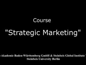 """Strategic Marketing"" by Rysgul Baltabayeva"